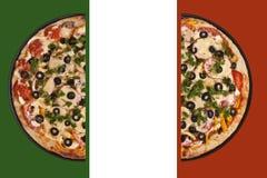 Pizzamarkierungsfahne Stockbilder