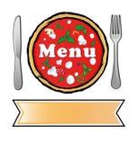 Pizzamenü Stockfotos