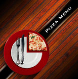 Pizzamenüdesign Stockfoto