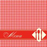 Pizzamenüschablonen-Vektorillustration Stockbilder
