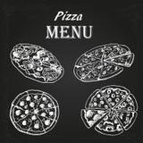 Pizzameny Royaltyfri Foto
