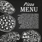 Pizzameny 1 Arkivfoton