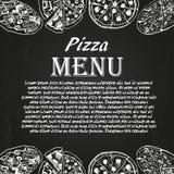 Pizzameny 6 Arkivfoto