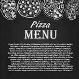 Pizzameny 4 Arkivbild
