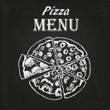 Pizzameny 3 Fotografering för Bildbyråer