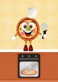 Pizzameny vektor illustrationer