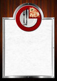 Pizzamenydesign Royaltyfria Foton