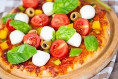 Pizzamozarella Royalty-vrije Stock Foto's