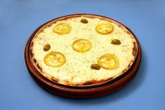Pizzamozarella med tomat & basilika 2 Royaltyfri Fotografi