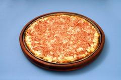 Pizzamozzarella med rökt skinka 1 Royaltyfri Fotografi