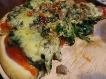 Pizzaost Isolerat på en vit bakgrund Royaltyfri Foto