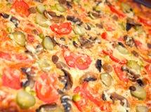Pizzapilze und -gemüse Lizenzfreies Stockfoto