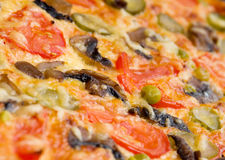 Pizzapilze und -gemüse Lizenzfreie Stockbilder