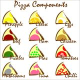 pizzas Royaltyfri Illustrationer