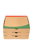Pizzas boxes Royalty Free Stock Photos