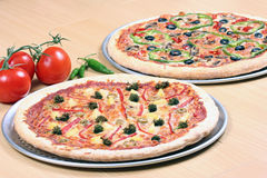 Pizzas combos Stock Photo