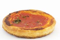 Pizzas de los pasteles de soplo con los tomates Imagen de archivo libre de regalías