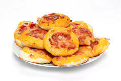 Pizzas in the dish Stock Photos