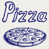 Pizzas. Doodle style Stock Photography