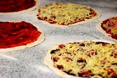 Pizzas galore stock photo