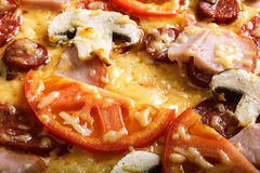 Pizzas italianas deliciosas Fotografia de Stock Royalty Free