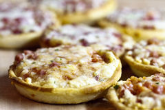 Pizzas miniatures Photo stock