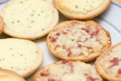 Pizzas pequenas Fotografia de Stock Royalty Free