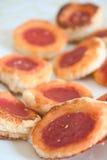 Pizzas pequenas da pastelaria fotografia de stock