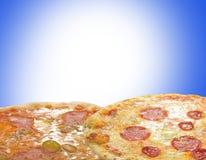 Pizzas soleadas imagenes de archivo