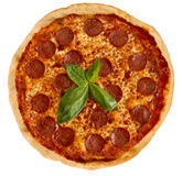 Pizzasalami Stock Foto's