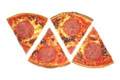 pizzasalami Royaltyfri Foto