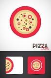 Pizzaschablonenauslegung Lizenzfreies Stockfoto