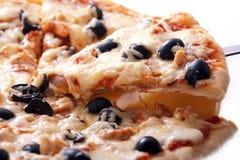 Pizzascheibe Stockbild