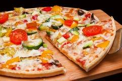 Pizzascheibe Stockfoto