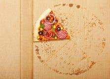 Pizzascheibe Lizenzfreie Stockfotos