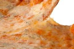 Pizzascheibenabschluß oben Lizenzfreie Stockfotos
