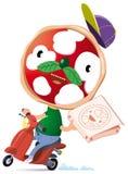 Pizzascooter Fotografia Stock
