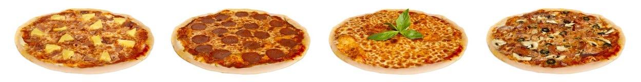 Pizzaselectie Royalty-vrije Stock Afbeeldingen