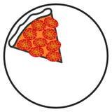 Pizzaskiva för symbol en Arkivfoton