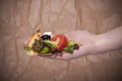 pizzaskivavegetarian Arkivbild
