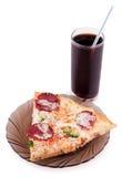 pizzaskivor fotografering för bildbyråer