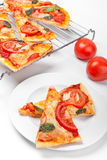 pizzaskivor Arkivfoton