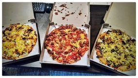 Pizzaspaß Lizenzfreie Stockfotografie