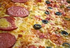 Pizzastreifen Stockfotos