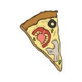 Pizzasymbol Royaltyfri Bild