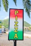 Pizzateken Royalty-vrije Stock Afbeeldingen
