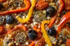 Pizzatextuur Royalty-vrije Stock Afbeelding