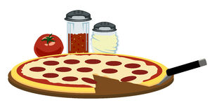 pizzatid stock illustrationer