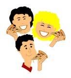 Pizzatijd Royalty-vrije Stock Foto's