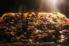 Pizzatijd Stock Foto's
